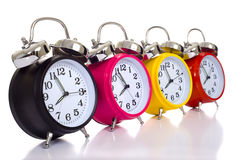 Colofful Alarm Clocks Royalty Free Stock Image