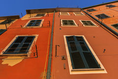Colofrul building in Riomaggiore in Italy Stock Photography
