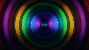 Colofrul Round Circular Waves Tunnel VJ Loop Motion Background V2. Glowing Colofrul Round Circular Waves Tunnel VJ Loop Motion Background V2 Backdrop stock video