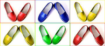 Colofrul shoes Stock Photography