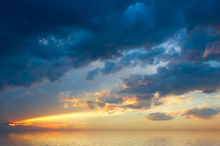 Colofrul sunset over sea Royalty Free Stock Images