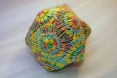 Coloful多角形被编织的纺织品玩具 库存图片