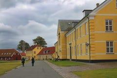 Coloful房子在哥本哈根,丹麦 免版税库存照片