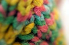 Coloful编织了毛线宏指令细节 库存照片