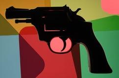 coloful πυροβόλο όπλο Στοκ εικόνες με δικαίωμα ελεύθερης χρήσης