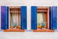 2 coloful окна Стоковые Изображения