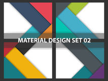 Coloful Abstract background material design collection, geometric shape background template for website collection. Set Royalty Free Stock Image