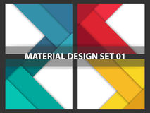 Coloful Abstract background material design collection, geometric shape background template for website collection Royalty Free Stock Photo