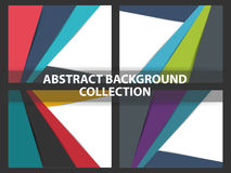 Coloful Abstract background material design collection, geometric shape background template for website collection Stock Images