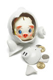 Coloful baby piggybank Stock Image
