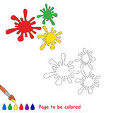 Coloful blots in  cartoon to be colored. Royalty Free Stock Image