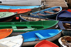 Coloful boats Stock Images