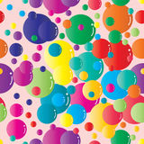 Coloful bubble seamless pattern Royalty Free Stock Photography