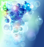 Coloful bubbles royalty free illustration