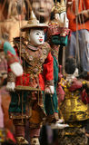 Coloful Burmese puppets Royalty Free Stock Photography