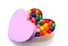 Coloful candies for Valentine day Stock Image