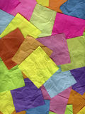 Coloful crumpled sticky notes Stock Image