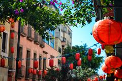 Coloful Decoration in Chinatown stock photography