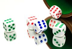Coloful dice Royalty Free Stock Image