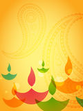 Coloful diwali design Royalty Free Stock Image