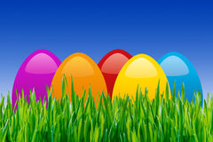 Coloful easter eggs Stock Image