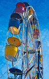 Coloful Ferris Wheel from Side Stock Images