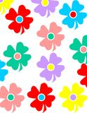 Coloful flower background Royalty Free Stock Image