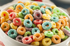 Coloful Fruit Cereal Loops Royalty Free Stock Photo