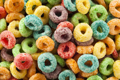Coloful Fruit Cereal Loops Royalty Free Stock Images