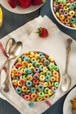 Coloful Fruit Cereal Loops Royalty Free Stock Image