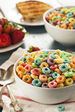 Coloful Fruit Cereal Loops Royalty Free Stock Photos