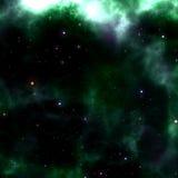 Coloful Glowing Space Nebula Stock Photo