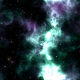 Coloful glowing space nebula Royalty Free Stock Photography