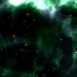 Coloful glowing space nebula Stock Photo