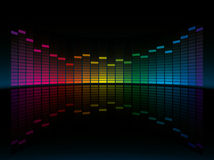 Coloful Graphic Equalizer Display. Stock Photo