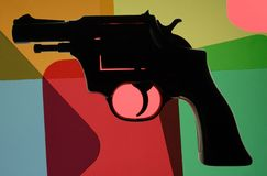 Coloful Gun Royalty Free Stock Images