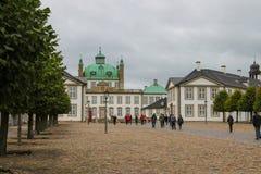 Coloful-Häuser in Kopenhagen, Dänemark stockbild