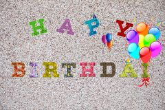 Coloful Happy Birthday words on light background vector illustration
