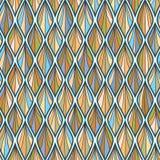 Coloful linje sömlös modell för våg Royaltyfri Foto