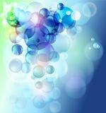 Coloful Luftblasen lizenzfreie abbildung