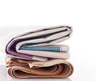 Coloful Newspapers Stock Images