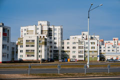 Coloful panel houses in Gomel city, Belarus. Stock Photos