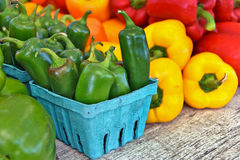 Coloful peppers at the farmer's market Stock Photography