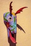 Coloful pintó la máscara animal en Guatemala fotografía de archivo