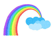 Coloful Rainbow With Clouds Royalty Free Stock Photos
