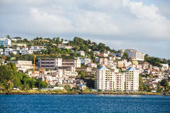 Coloful Resorts on Coast of Martinique Stock Image