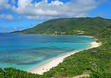 Coloful sawanny zatoki plaża fotografia stock