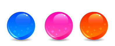 Coloful shiny balls Royalty Free Stock Image