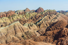 Coloful stripes mountains Royalty Free Stock Image