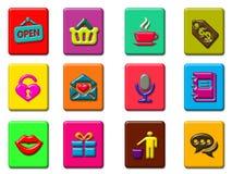 Coloful web icon set pattern vector illustration